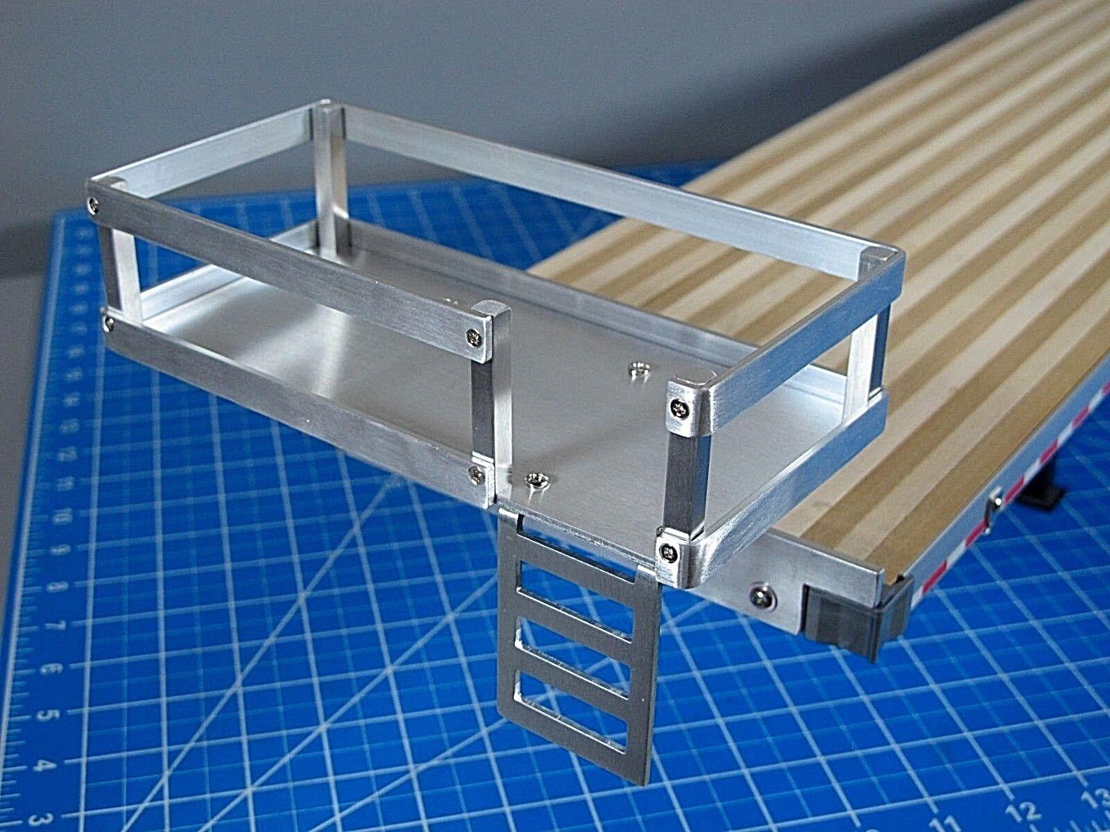 Nytt Lägg till på Aluminum Rack Platform för Tamiya 1 14 Halv Flatbed Trailer Truck