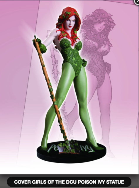 DC COMICS COVER GIRLS POISON IVY STATUE ADAM HUGHES (FACTORY SEALED, BRAND NEW)