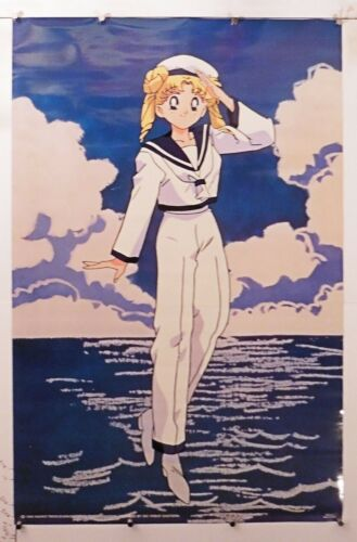 "b506 Sailor Moon vintage poster Dic 1999 NOS 22/"" X 34/"""