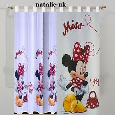 Disney Tab Top Voile Net Curtain -MINNIE MOUSE IN RED- 150cm width x 157cm drop