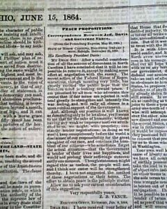 Rare-PRO-CONFEDERATE-Columbus-Ohio-w-Jefferson-Davis-1861-Civil-War-Newspaper