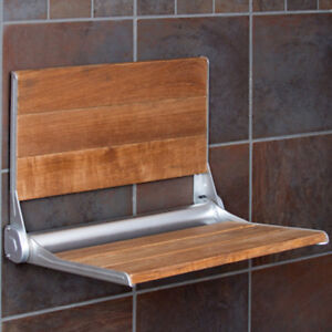 Clevr-18-034-ADA-Compliant-Folding-Teak-Wood-Shower-Bench-Seat-Medical-Wall-Mount