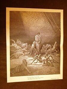 Incisione-Gustave-Dore-del-1880-Purgatorio-Aracne-Dante-039-s-Purgatory-Engraving