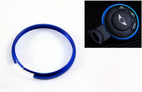 MATT BLUE METAL RING TRIM FOR MINI COOPER R55 R56 R57 R58 R59 R60 SMART KEY FOB