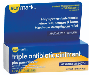 McK sunmark Triple Antibiotic Ointment First Aid Antibiotic 1 oz Ointment Tube