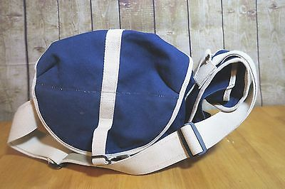 DOMKE Shooters Navy Blue Camera Bag Brown The Rugged Professional USED
