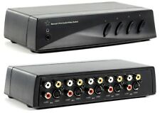 HQ MANUAL 4 PORT AUDIO/VIDEO SWITCH WITH HEADPHONE JACK
