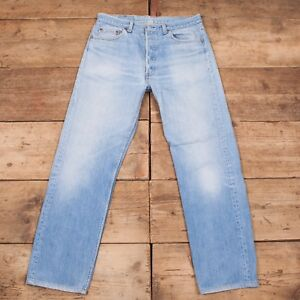 501 Blue Mens Jeans 1980s Made Denim Levis 36 Vintage Tab Red Usa qAUIAF