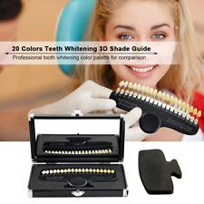 Teeth Whitening Dental Shade Guide Tooth Bleaching Shadeguide 20 Color Mirror