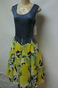 Tango-Mango-Blue-amp-Yellow-Short-Dress