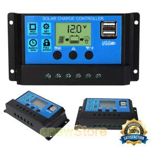 30A-60A-PWM-Solar-Charge-Controller-LCD-12V-24V-Battery-Regulator-USB-Port