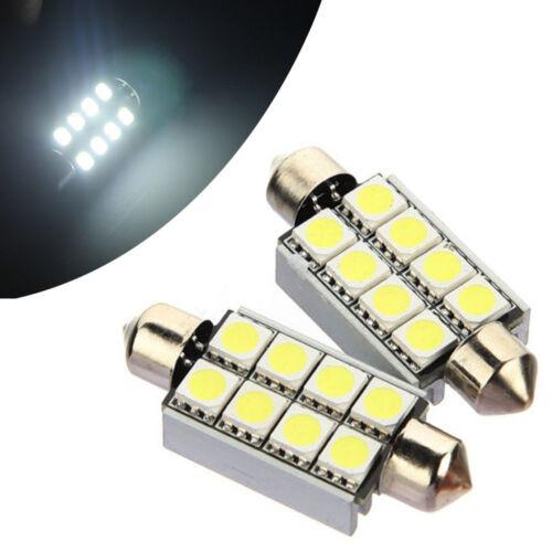 2X 42mm C5W LED Lights Car Bulbs 8 SMD Chip Canbus Festoon Sidelight Error Free