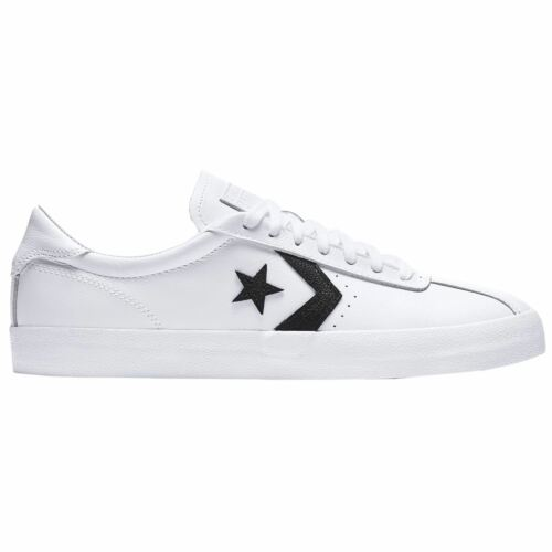 Converse Breakpoint Ox White Black Men Leather Low-Top Lace-up Sneakers Trainers