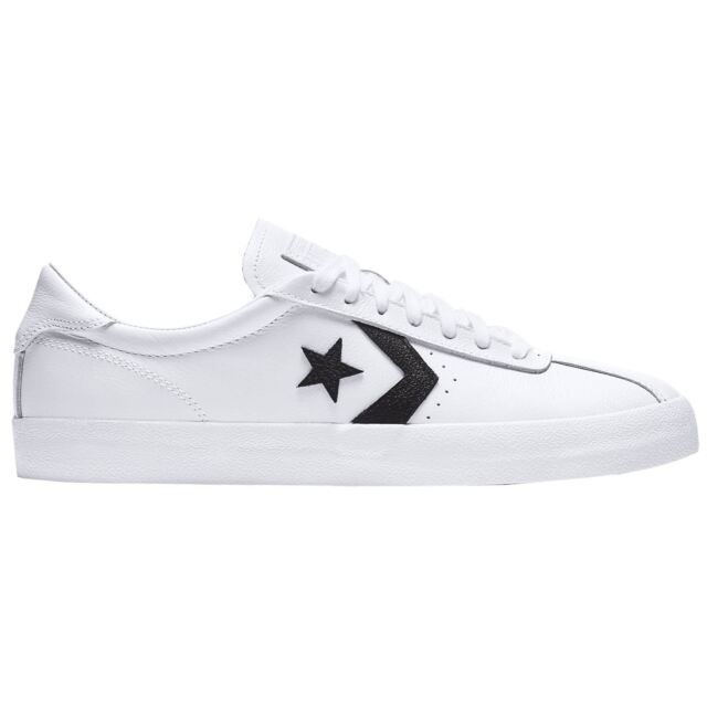 f41ed64c0c91ca Converse Breakpoint Ox White Black Men Leather Low-Top Lace-up Sneakers  Trainers