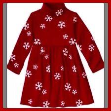 NWT girls 4 gymboree Red PENGUIN CHALET snowflake Cotton Knit DRESS turtleneck