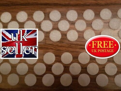 ALFATEX® SUPPLIED BY VELCRO® 10mm DOTS WHITE SELF ADHESIVE COINS