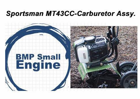Carburetor Carb Assembly For Sportsman MT43CC 43cc Mini Cultivator