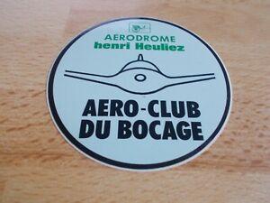 Autocollant-AERODROME-HENRI-HEULIEZ-AERO-CLUB-DU-BOCAGE