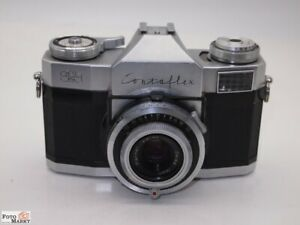 Zeiss-Ikon-SLR-Kamera-Contaflex-Objektiv-Pantar-2-8-45-mm-Prontor-Reflex
