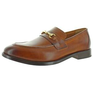 Cole Haan Mens Kneeland Leather Slip On Embellished Loafers Shoes BHFO 3743