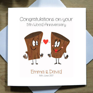 Personalised-Handmade-5th-Wood-Wedding-Anniversary-Card-Fifth-Cartoon-Funny