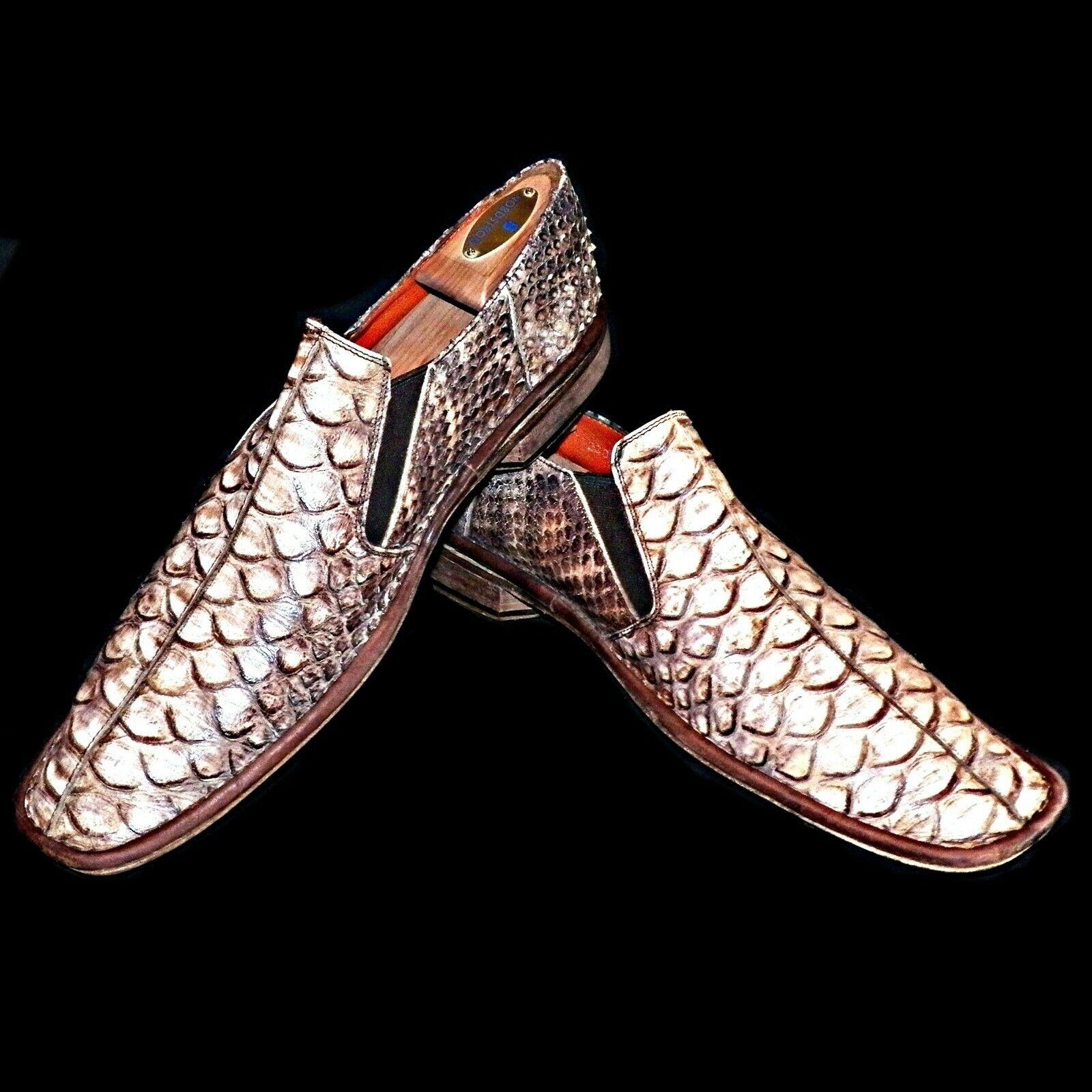 Mark Nason Hecho en Italia Exótico Oso Hormiguero Estampado de Piel de Serpiente