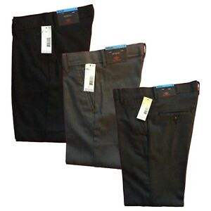 New Dockers Boys Flat Front Dress Pants Blackcharcoalherringbone