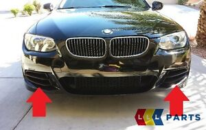 BMW-NEW-OEM-E92-E93-LCI-M-SPORT-335IS-FRONT-BUMPER-LOWER-GRILLE-PAIR-LEFT-RIGHT
