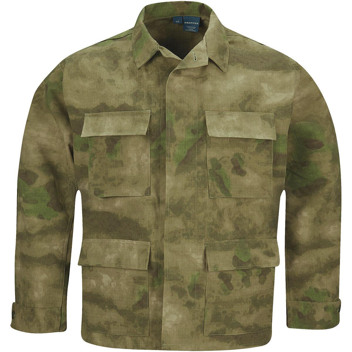 Propper BDU Coat Mens Army Paintball Patrol Tactical Heavy-Duty A-TACS FG Camo