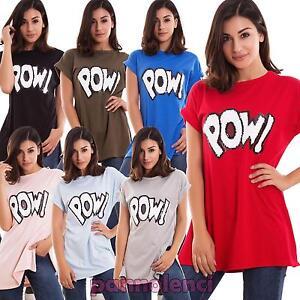 Maglia-donna-maxi-maglietta-t-shirt-spacchi-lunga-paillettes-nuova-CJ-2217