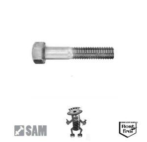 10 Stück Sechskantschrauben DIN 931 mit Schaft M6X70 Edelstahl A2 Teilgewinde