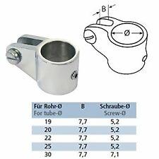Relingsbeschläge aus V4A Edelstahl Rohrkappe mit Auge Reling Rohr Rohrendkappe