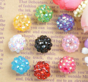 10Pcs-Mixed-Colour-Sparkling-Resin-Rhinestones-Round-Ball-Spacer-Beads-12MM-14MM
