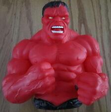 The Incredible Hulk Red Bust Bank Marvel Comics Bust Piggy Bank NEW