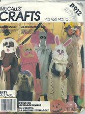 McCall's Sewing Pattern Children's P912 Costume Cat Elephant Owl Rabbit Dog SM-L