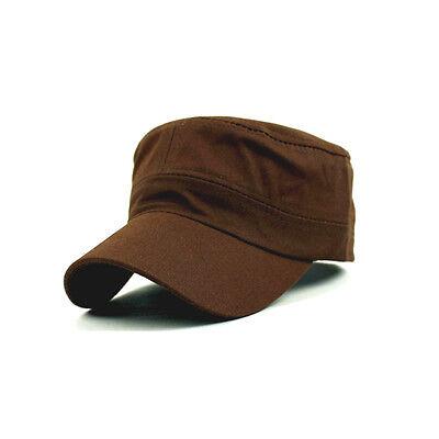 Hot Fashion Summer Adjustable Classic Army Plain Vintage Hat Cadet Military Cap