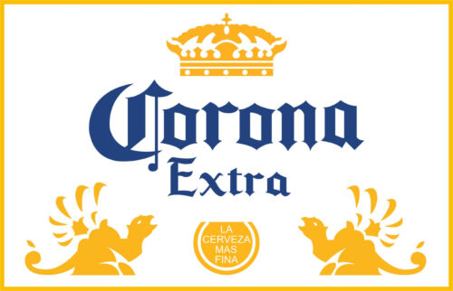 "full color Corona Extra Vinyl Sticker Decal 14/"""
