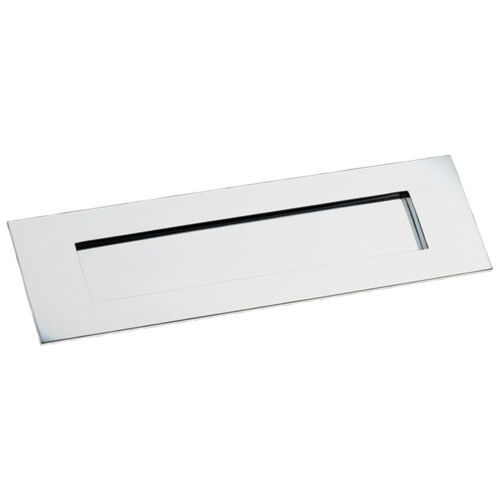 """Box 14/"""" x 4.75/""""Sprung Flap POLISHED CHROME Letter Plate"""