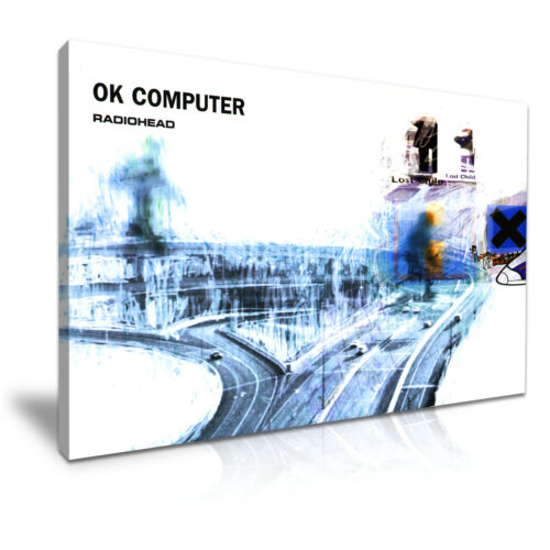 Radiohead OK Computer Cover Music Canvas Wall Art Picture Print 76x50cm
