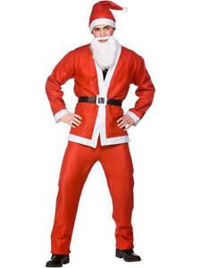 Costume da uomo 5 Pezzi Babbo Natale Suit Dress Up Costume Da Babbo Natale Festa