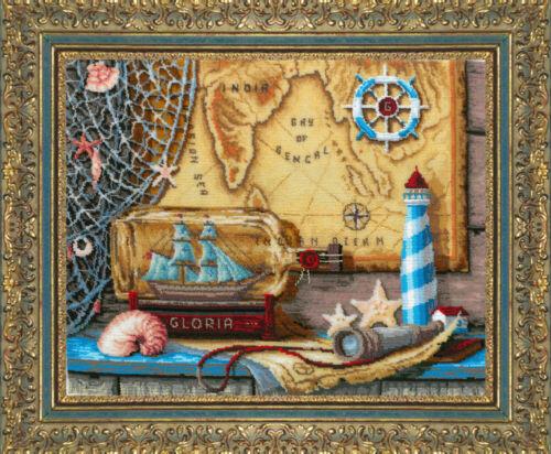 """/""""Sea adventures/"""" Bead Embroidery kit GOLDEN HANDS TM-003"""