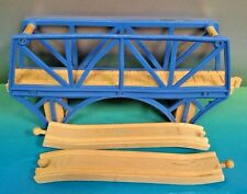 Thomas & Friends Wooden Railway Train Blue Bay Bridge & 2 Ascending Tracks Rare