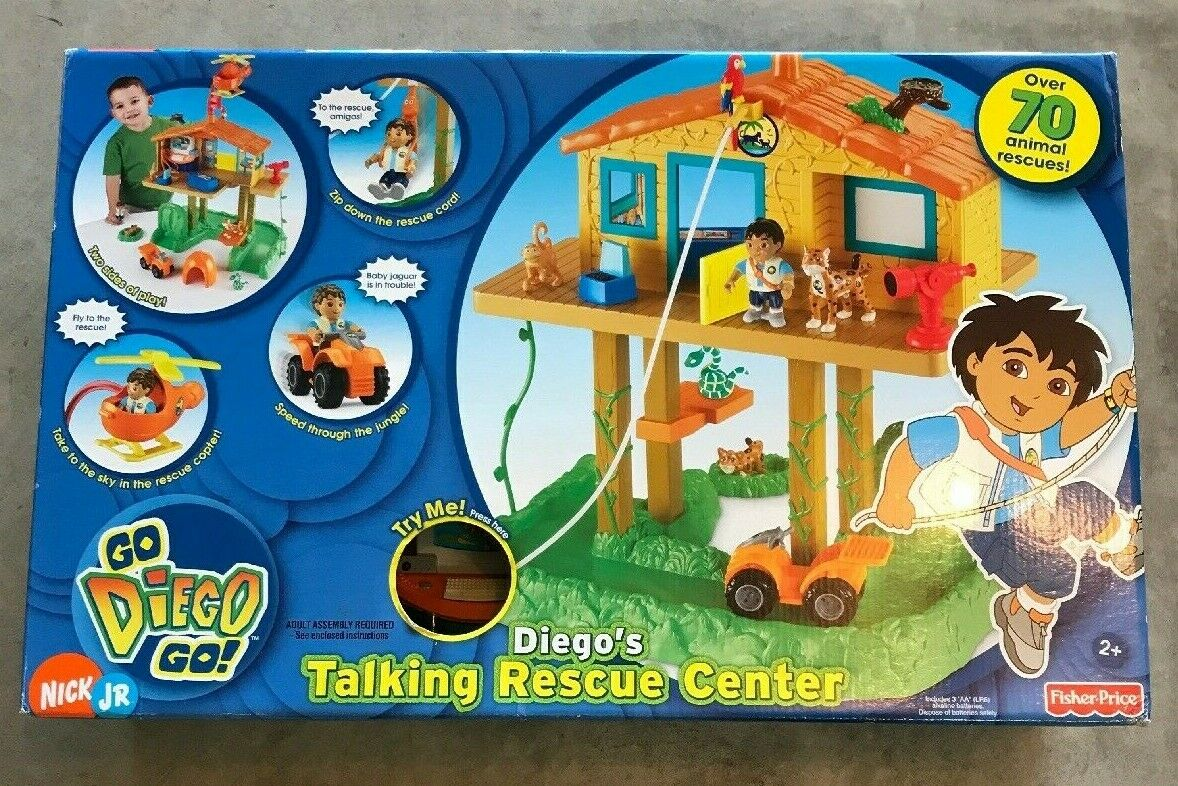 RARE NEW GO DIEGO's TALKING ANIMAL RESCUE CENTER DORA Nick Jr DOLLHOUSE Playset