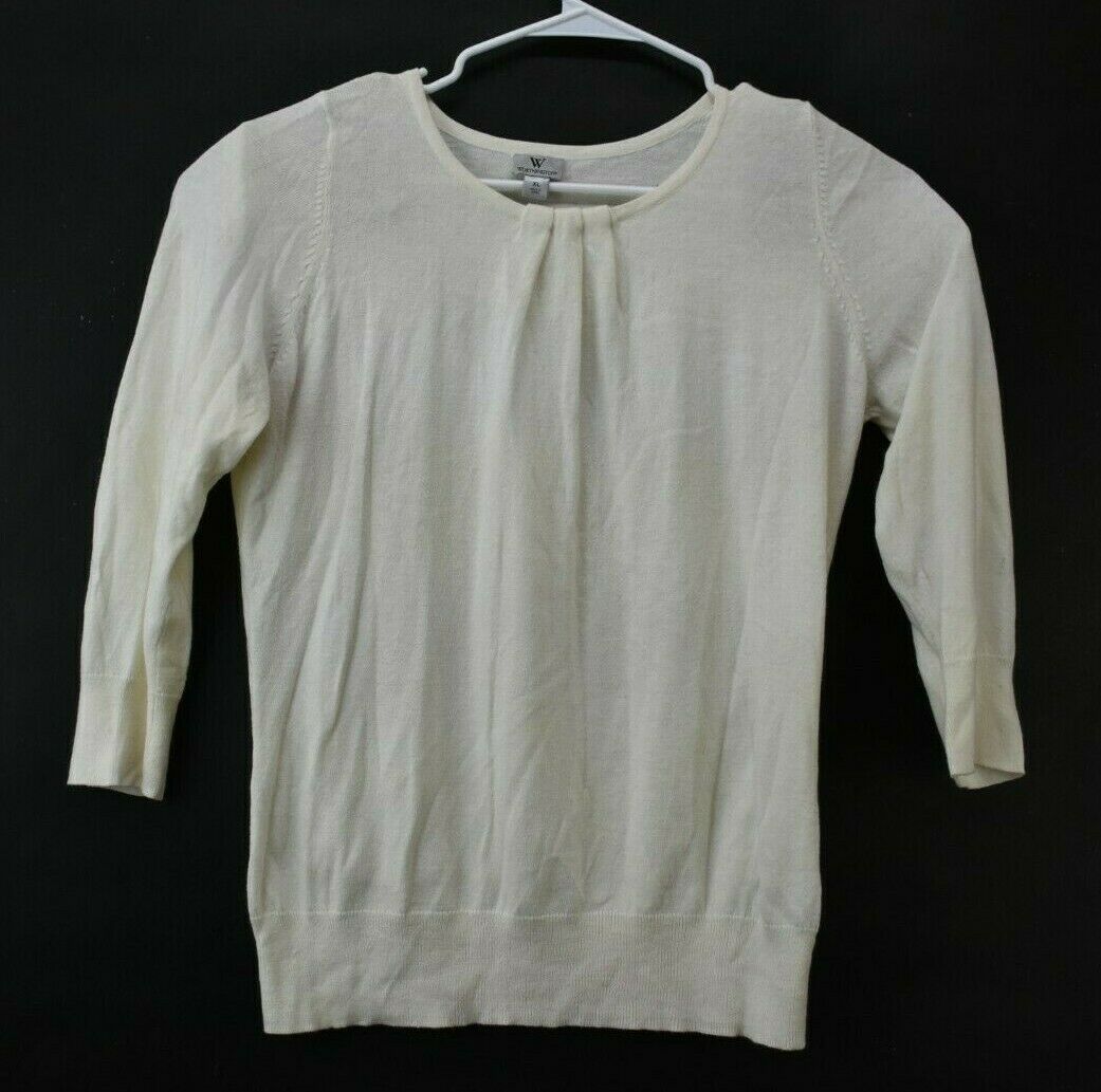Lot of 3 Women's XL Christopher & Banks White LS … - image 7