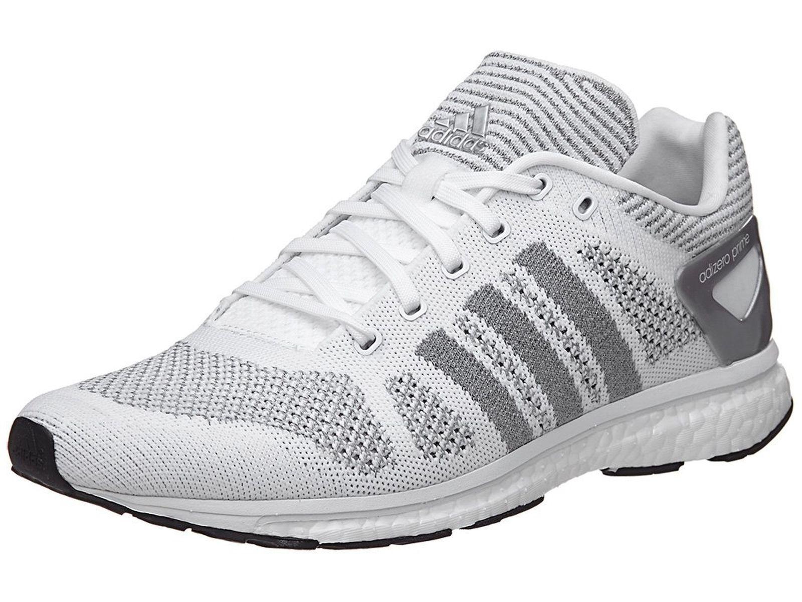 Adidas adizero Prime LTD Unisex Running Shoes White / Grey Sz 8 BB4919