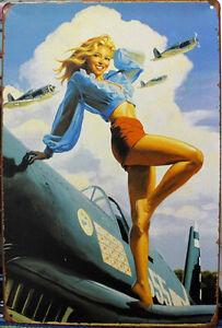 Collection-pin-up-Girl-Poster-Vintage-metal-etain-signes-maison-plaque-murale
