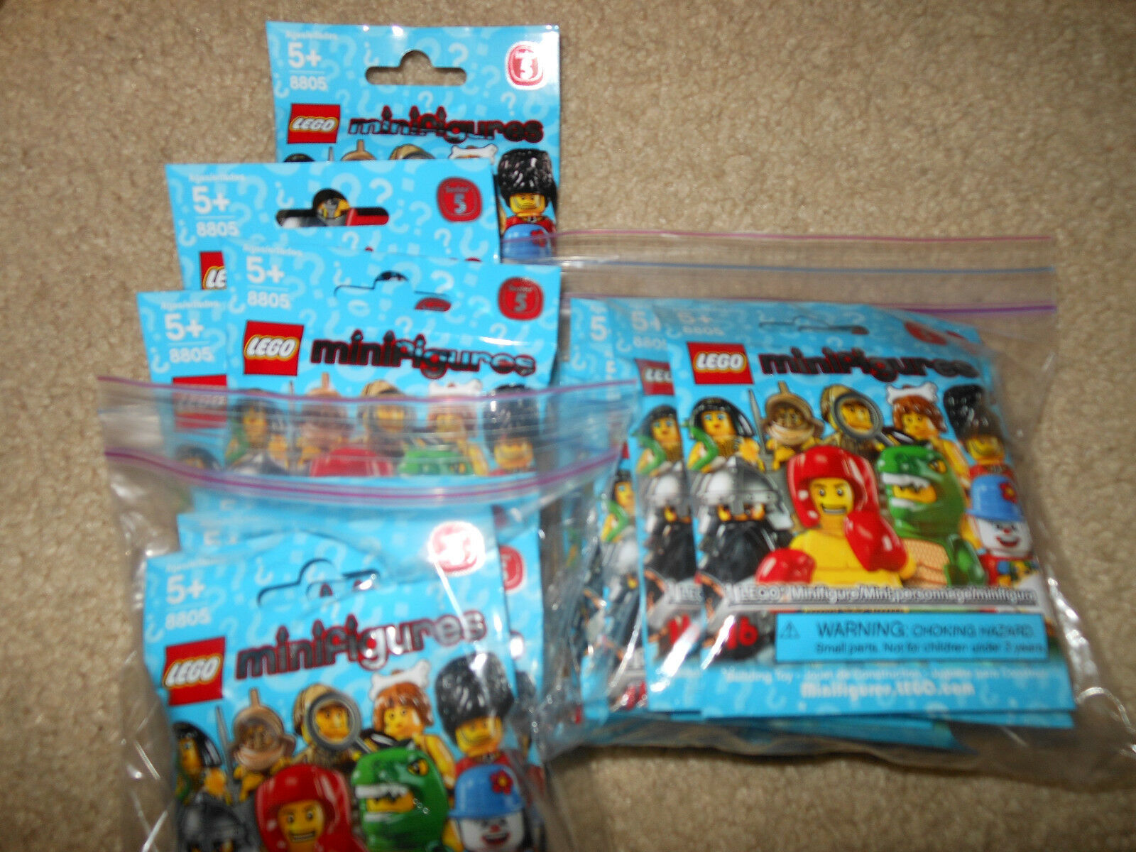 LEGO 8805 Series 5 Collectible Minifigures ( CMF) set of 16, sealed new retiROT