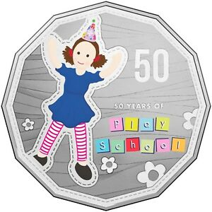 2016-Australia-50-Years-of-Play-School-Choice-Unc-Coloured-50c-Coin-Jemima