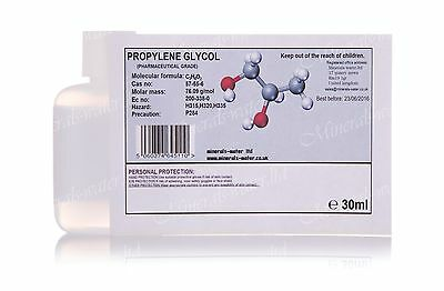 30ml MPG Propylene glycol USP/EP 99+%•Pharmaceutical grade•