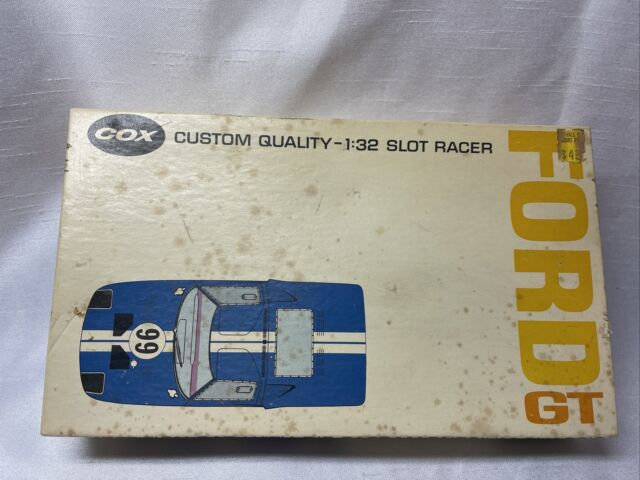 COX FORD GT 1/32 Slot Car With Original Box & Instructions ++